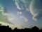 強風でレンズ雲。その下には富士がある。