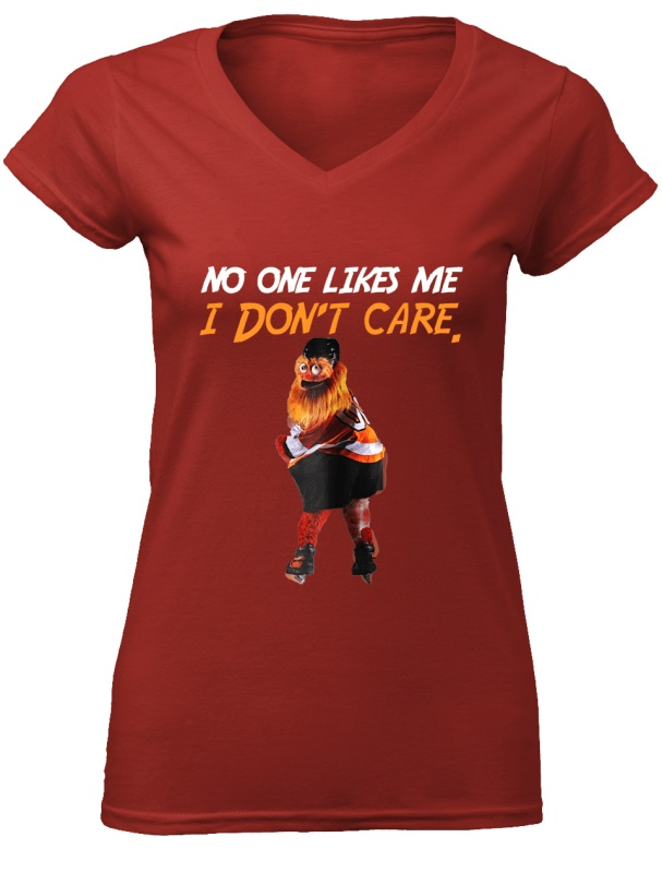 f9af96228a5 ... Gritty Philly Mascot No one likes me I don t care shirt.  f id khai11040512 20181004194944p plain