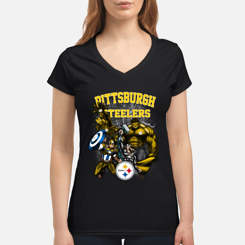 4d41ae68c4e Perfect Pittsburgh Steelers All Marvel Avengers shirt ...
