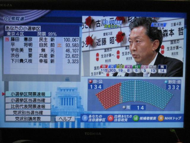 Kaihyo-Sokuho-ShugiinSenkyo2009-in-Toshiba-Regza-DigitalBoradcasting