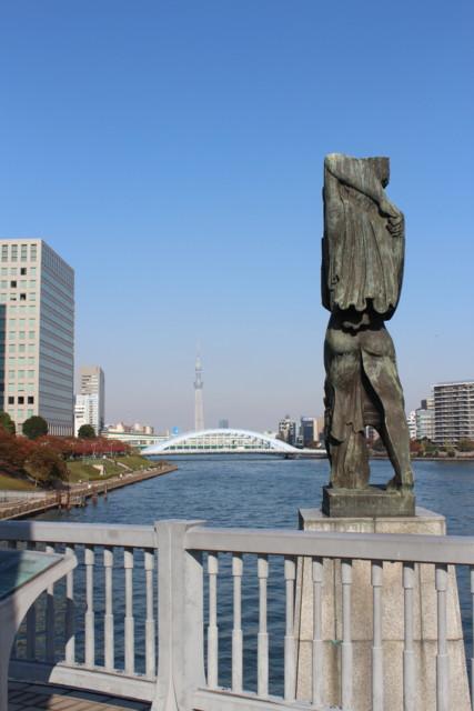MessageZou-and-TokyoSkyTree,Chuo-Oohashi,SumidaGawa,Tokyo