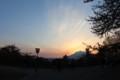 [trp-ao1405]sunset-Iwaki-san,Hirosaki-Park
