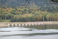 [hok1909]TaushubetsuGawa-railway-Bridge,Nukabira-ko,TaisekuZan-Hokkaido