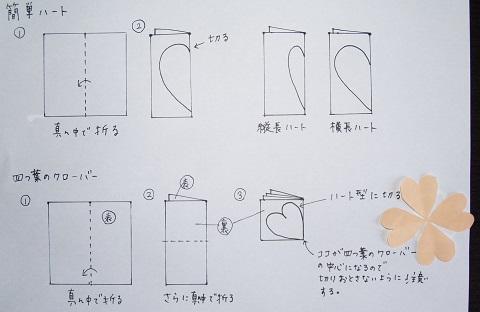クリスマス 折り紙 手紙 ハート 折り方 長方形 : yorozu-kotonoha.hatenablog.com
