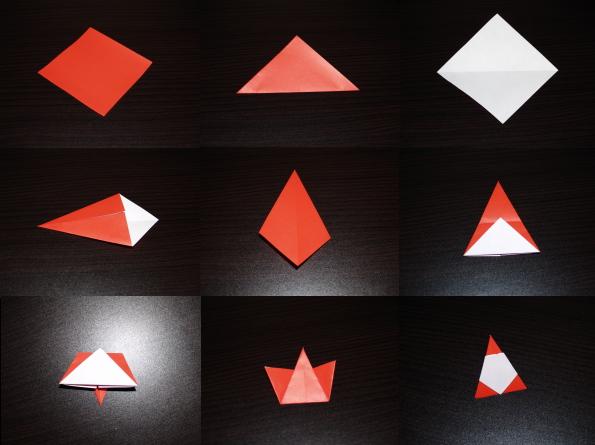 クリスマス 折り紙 サンタ 折り紙 立体 : yorozu-kotonoha.hatenablog.com