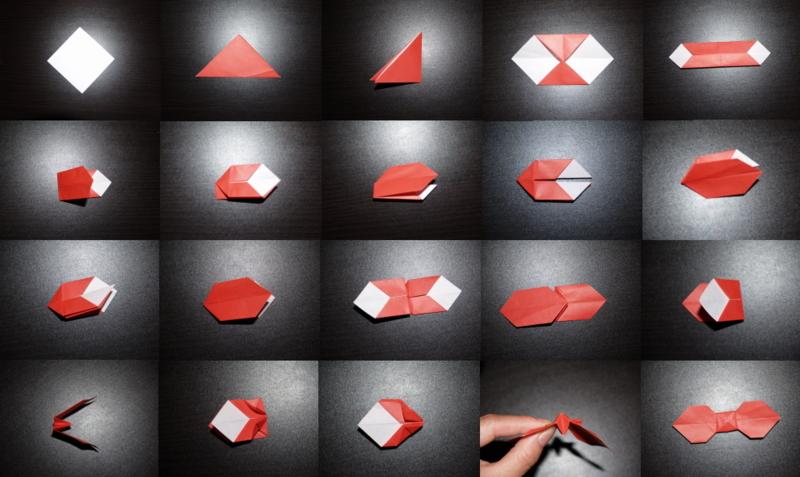 クリスマス 折り紙 折り紙 リボン : yorozu-kotonoha.hatenablog.com