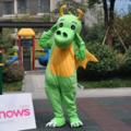 緑の恐竜着ぐるみ、着ぐるみドラゴン、ダイナソア着ぐるみ http://www.m