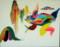トウキョウダルマガエルと山図 2011,Oil on canvas F50