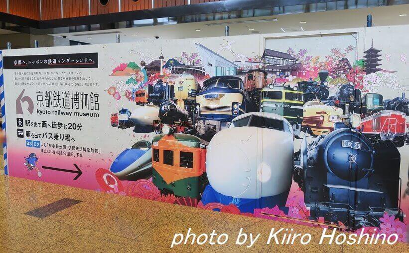 たびねす、京都鉄道博物館お土産、京都駅の看板