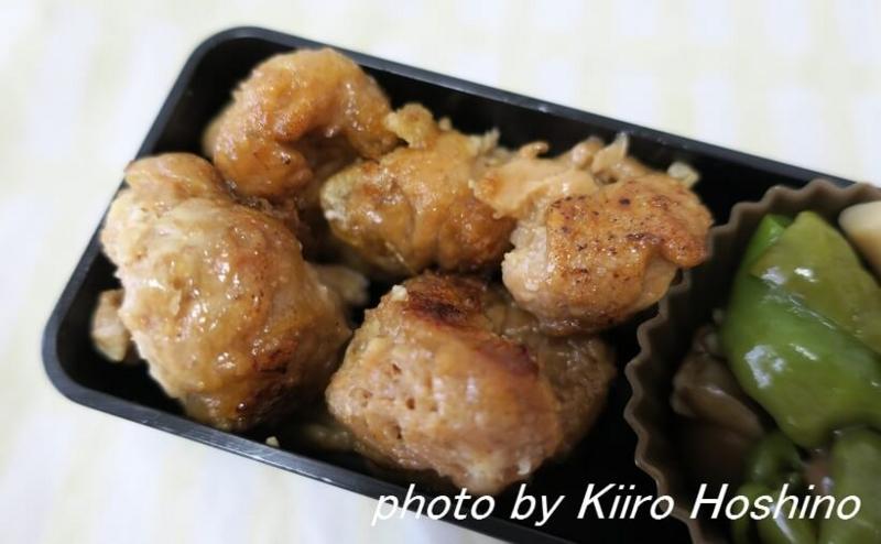 お弁当、20116-8-17、大豆たんぱくの唐揚げ