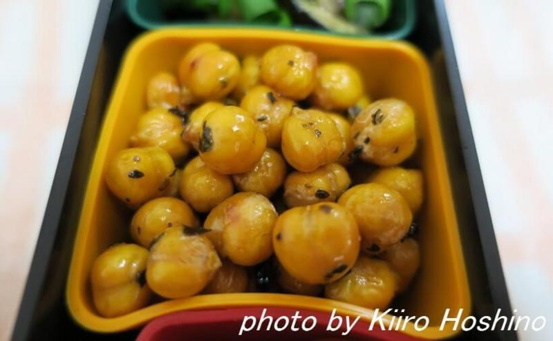 お弁当、2016-9-26、ベイクドひよこ豆