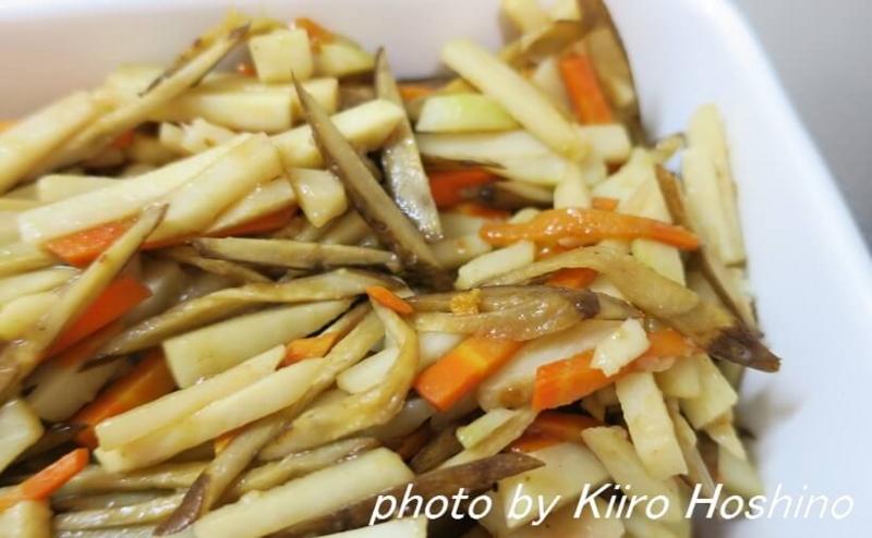 作り置き10.7、里芋と根菜のきんぴら