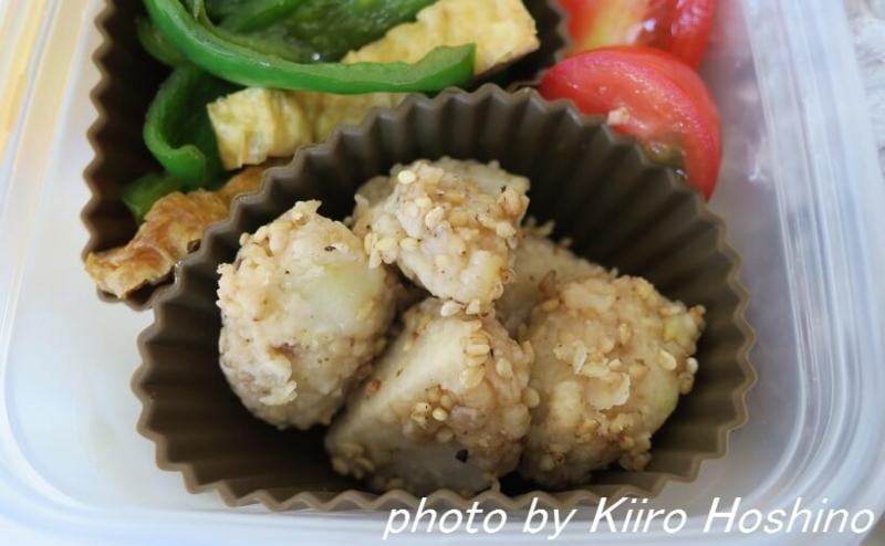 お弁当、2016-10-18、里芋の甘辛焼き