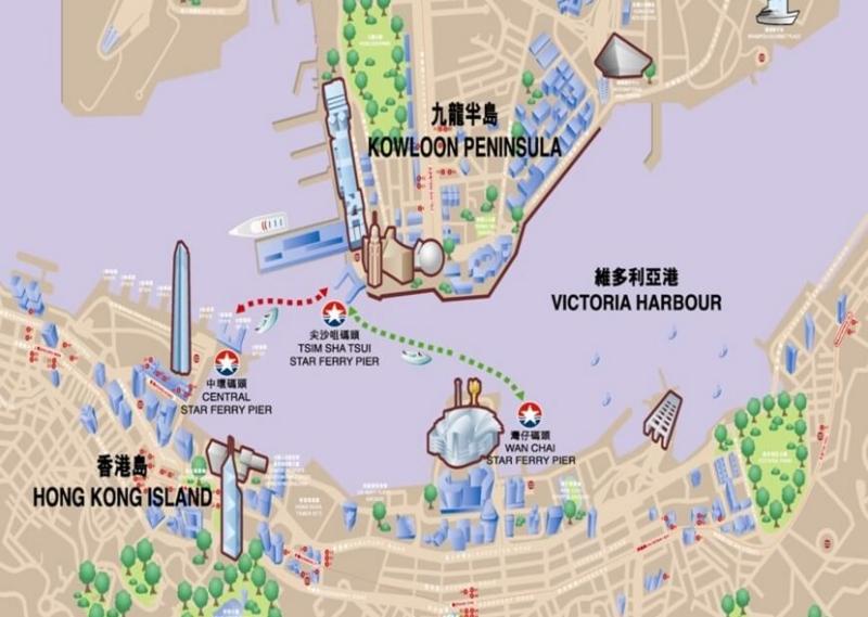 香港乗り物、スターフェリー航路