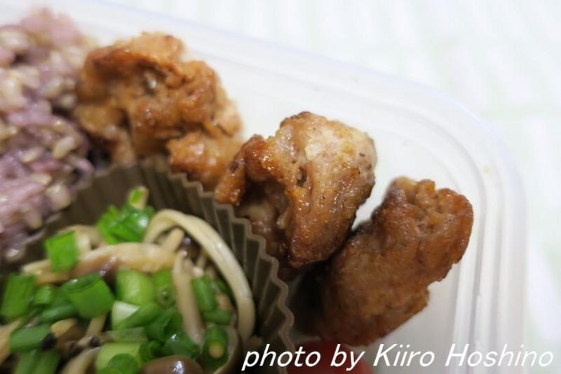 お弁当、2016-11-11、大豆たんぱく唐揚げ