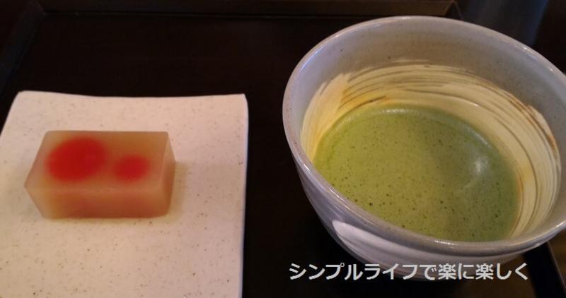 虎屋茶寮・京都一条店、抹茶と季節の羊羹