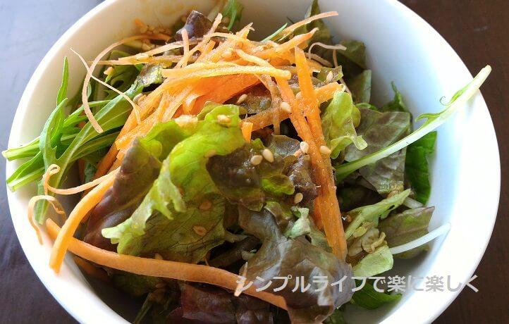 京都・ボンボンカフェ、サラダ