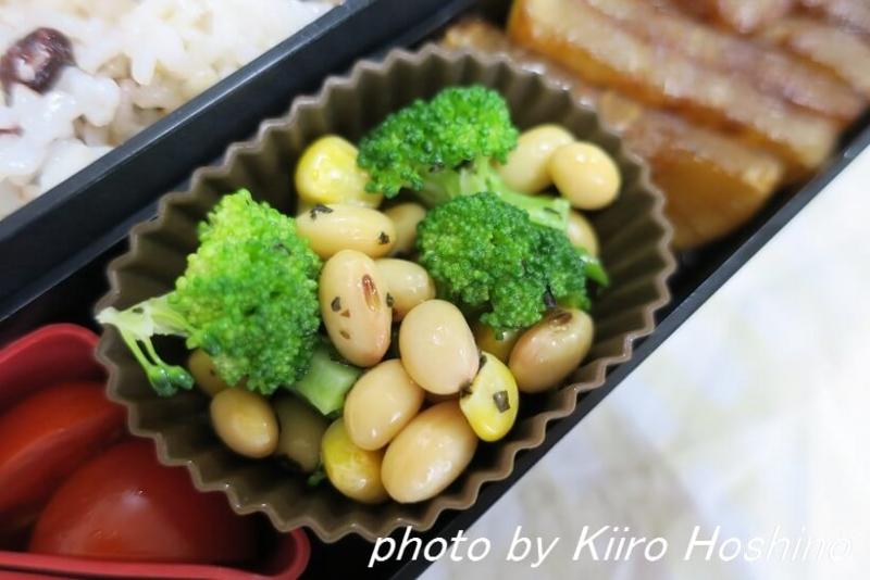 お弁当、2016-12-1、ブロッコリーと大豆サラダ