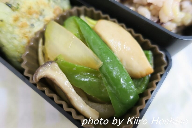 お弁当、2016-12-9、野菜炒め