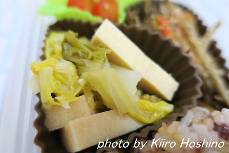 お弁当、2016-12-30、白菜と高野豆腐の煮物