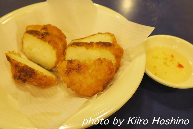 香港・鶏記、焼き魚ハンバーグ