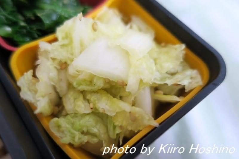 お弁当、2017-1-5、白菜のごま酢和え