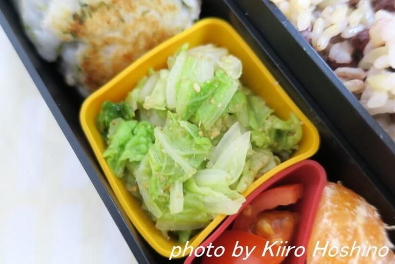 お弁当、2017-1-12、蒸し白菜