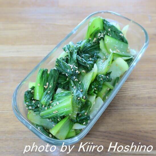 チンゲン菜の中華風和え物