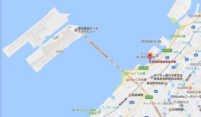 泉佐野漁協、地図