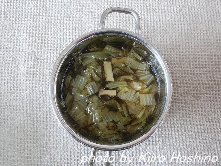 作り置き2.17、白菜ともずくスープ
