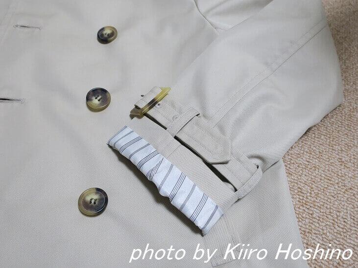 スプリングコート、袖口