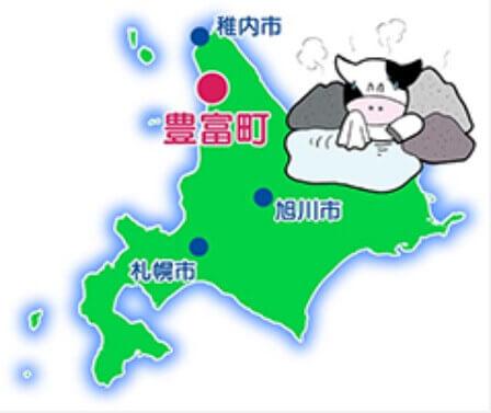 北海道豊富町、場所