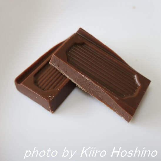 ピープルツリー・ミルクチョコレート、断面