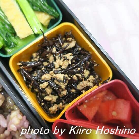 高野豆腐とひじきのそぼろ