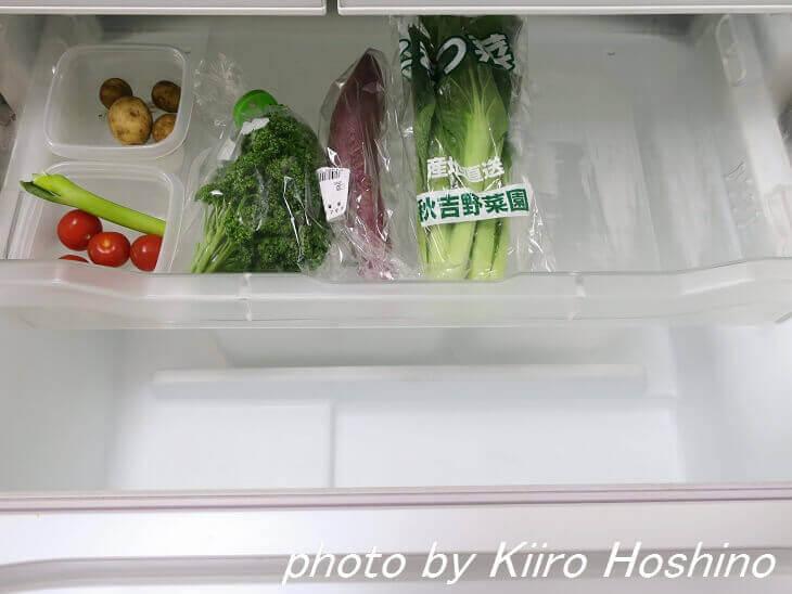 ガラガラ野菜室・上段