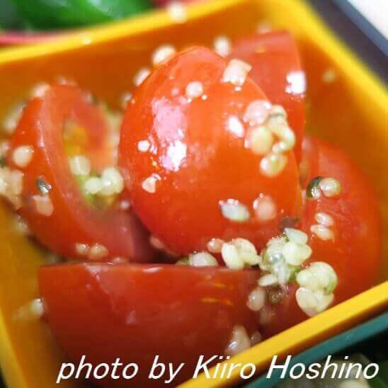 トマトのオリーブオイル和え