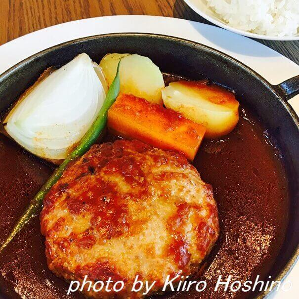京都モダンテラス・京豆腐と豚のハンバーグステーキ