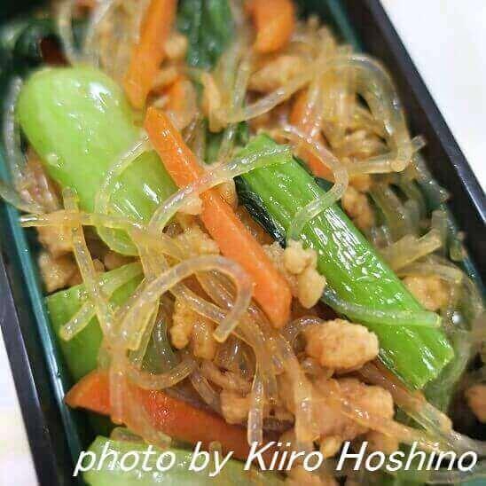 春雨と小松菜のしょうが炒め