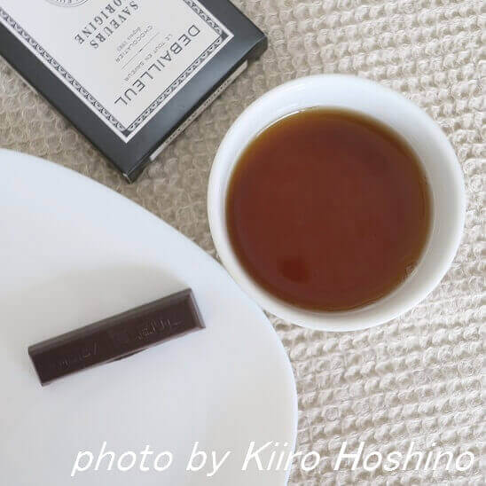 ドゥバイヨルチョコ、紅茶とともに