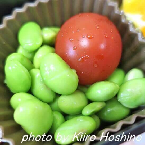 枝豆とプチトマト