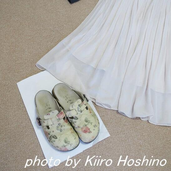 スカートと靴
