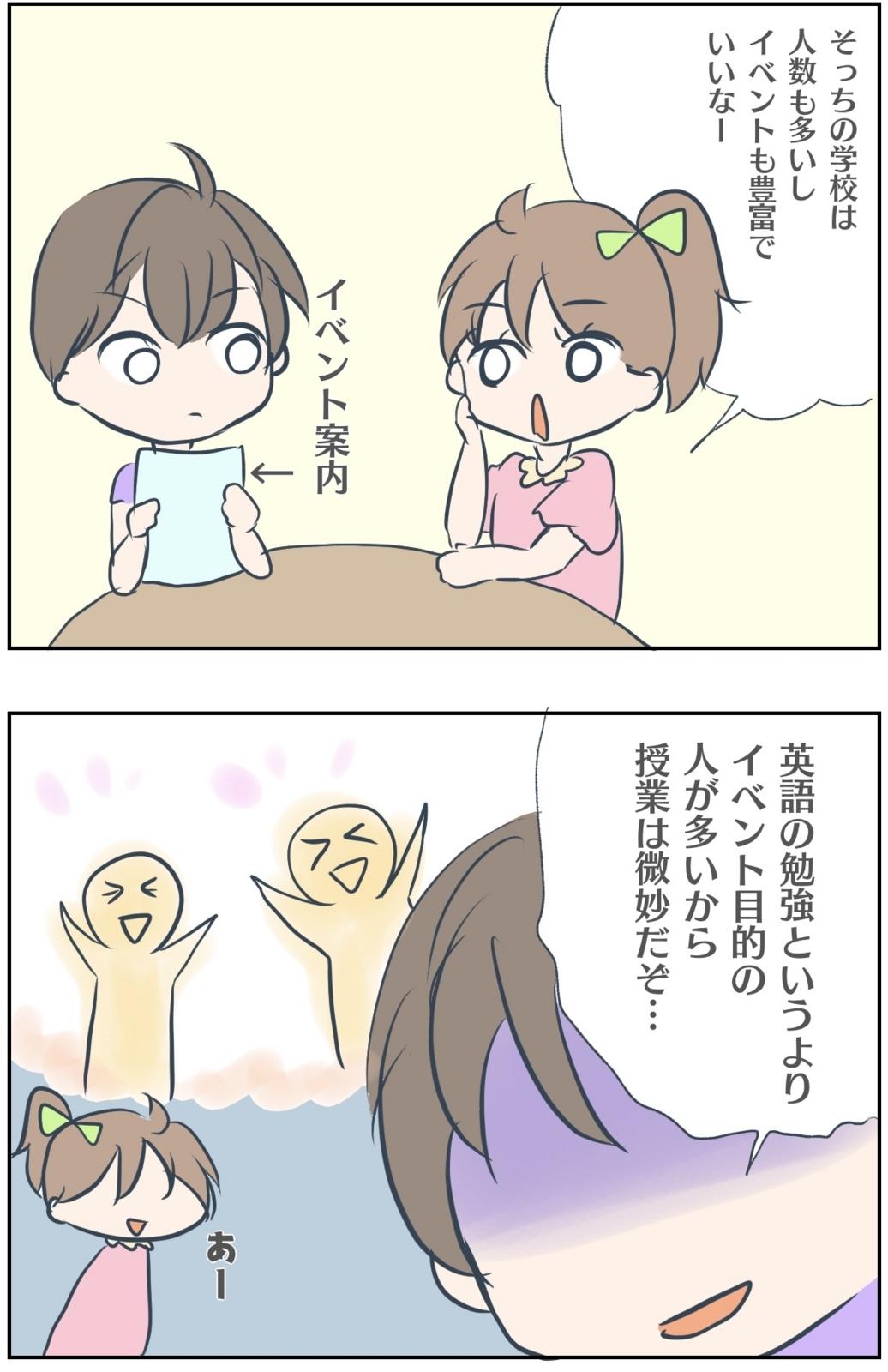 語学学校の違いに関する漫画
