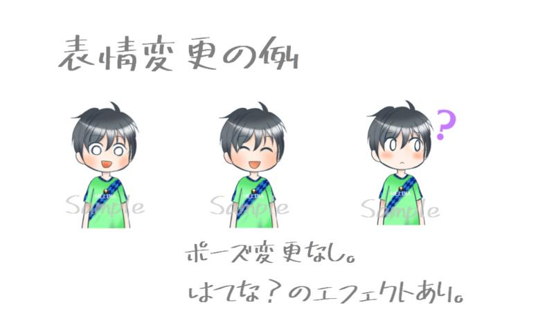 表情変更イラストの例