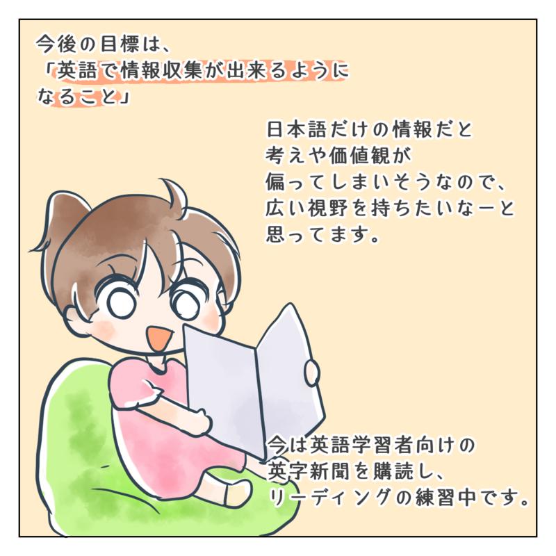 英字新聞を読んでいるイラスト