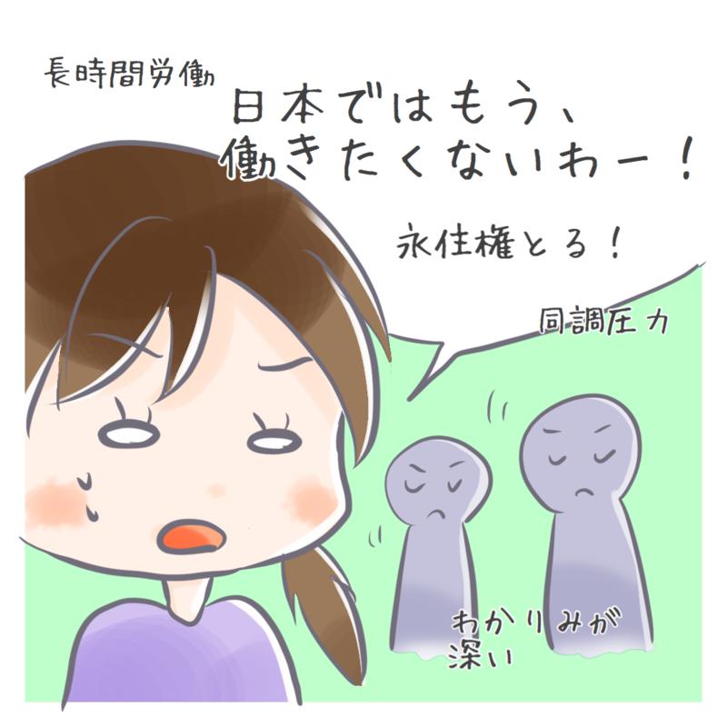 日本の労働環境について語るイラスト
