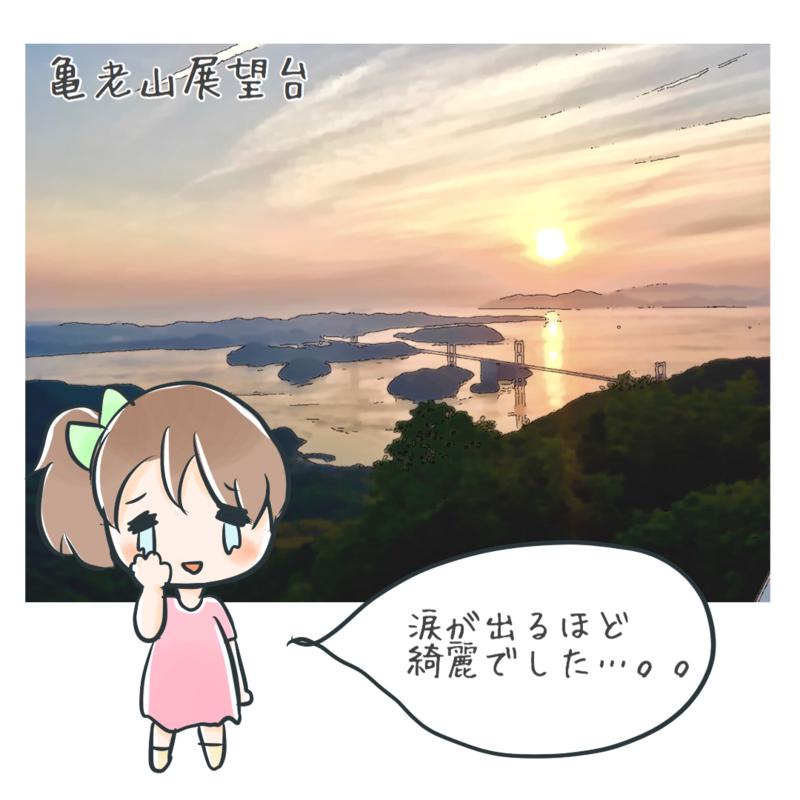 亀老山展望台の夕日