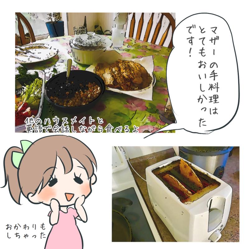 ホストマザーの料理