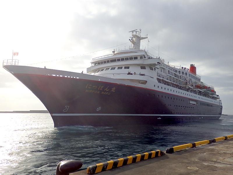 喜界島 にっぽん丸 寄港