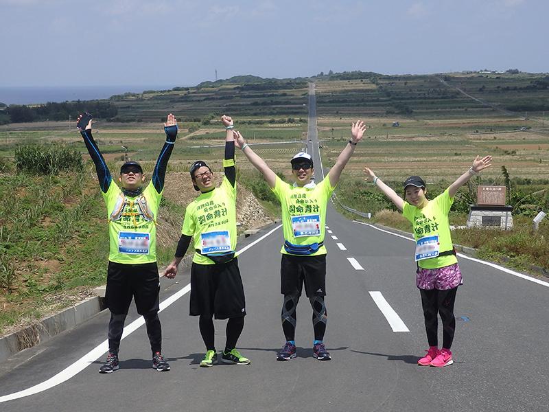 喜界島マラソン サトウキビの一本道