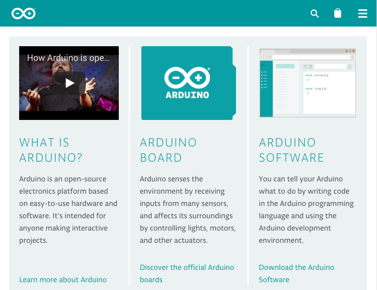 Arduino is an open-source electronics platform based on easy-to-use hardware and software. It's intended for anyone making interactive projects.
